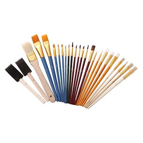 Sharplace Set met 25 tekenpenselen, penseel voor acrylnagels en kunstnagels