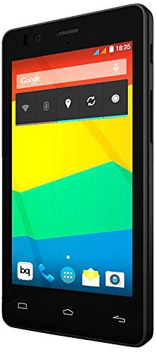 BQ Aquaris E4.5 - Smartphone libre Android (pantalla 4.5 pulgadas, cámara 8 Mp, 8 GB, Quad-Core 1.3 GHz, 1 GB RAM, Android 4.4 KitKat), negro