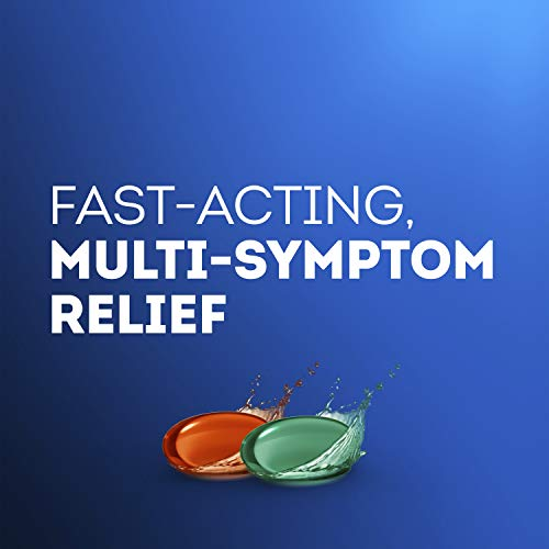 Vicks DayQuil & NyQuil LiquiCaps, Cough, Cold & Flu Relief, Sore Throat, Fever, & Congestion Relief, Day & Night Relief, 24 LiquiCaps (16 DayQuil, 8 NyQuil)
