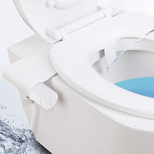 Bidet Toilettenaufsatz mit Frischwasserspray und Hygienisch Schutzgitter Nicht elektromechanisch einfache Bedienung Selbstreinigender Düse und zur Desinfizierung des Untens