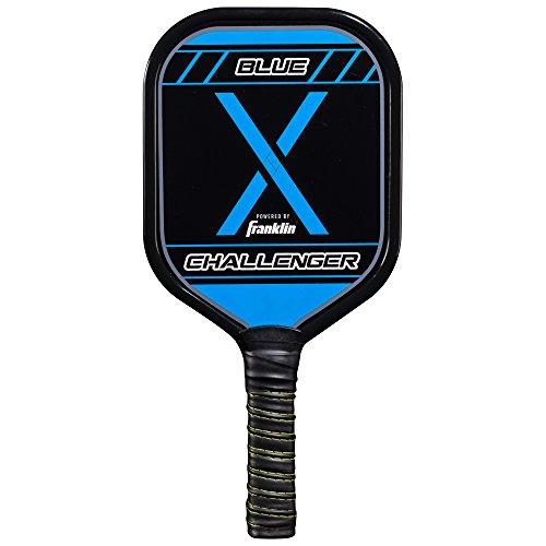 Franklin Sports Pickleball Paddle - Aluminum Pickleball Racket - Challenger - Blue - USA Pickleball (USAPA) Approved