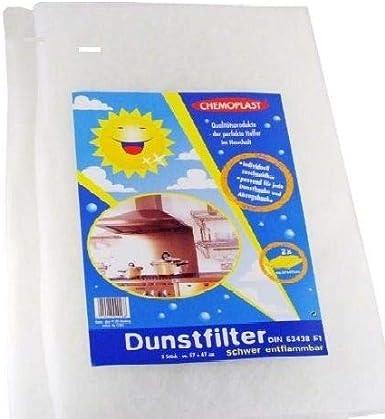 4 filtros universales para campana extractora, 57 x 47 cm, filtro de grasa, filtro