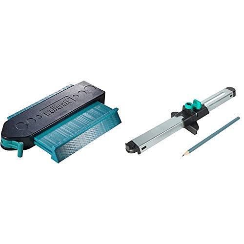 Wolfcraft 6949000Medidor de contornos + 6952000Ajustador de laminado para una medición exacta de la última tabla