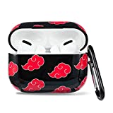 Jowhep Case for AirPod Pro Cartoon Cute Anime Design Hard IMD Cover Fashion Funny Fun Character for Air Pods Men Boys Girls Kids Teen Kawaii Cool Unique Keychain Shell Cases for AirPods Pro Red Cloud