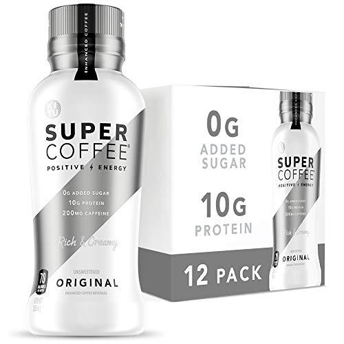 Kitu Super Coffee, Iced Keto Coffee (0g Added Sugar, 10g Protein, 70 Calories) [Original] 12 Fl Oz, 12 Pack | Iced Coffee, Protein Coffee, Coffee Drinks - LactoseFree, SoyFree, GlutenFree