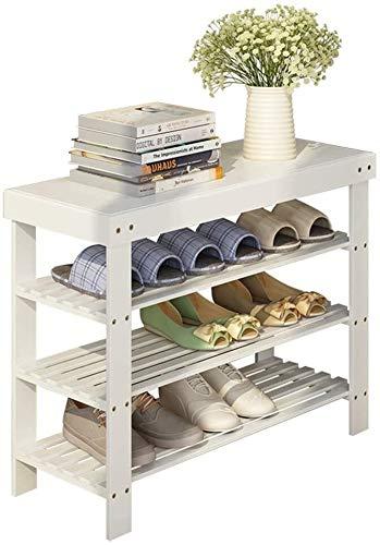 Wddwarmhome Zapato de Zapatos múltiples Zapatos a Prueba de Polvo Zapatos Multiusos Taburete Rack Económico Dormitorio Dormitorio Ahorro de Espacio (Size : 60 * 28 * 54cm)