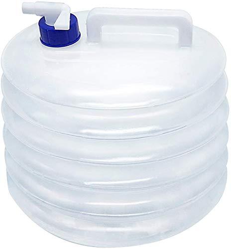 CYSJ Bidón de Agua Contenedor de agua Plegable bidón de agua portátil,ovalados con Grifo, asa, para Camping, sin BPA, Apto para Senderismo Camping Picnic Travel BBQ 15L