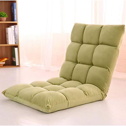 Sedia da Pavimento Cuscino di seduta con schienale regolabile, Letto pieghevole schienale poltrona reclinabile, for la meditazione, la lettura, Guardare con attenzione, Video-Gaming ( Color : Green )
