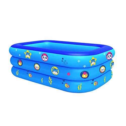 Topashe Piscina Infantil Hinchable Bebe,Piscina Hinchable, baño Infantil-Azul_210cm,Piscina Hinchable Familiar Swim Center