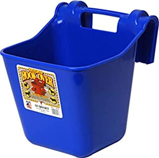 Miller Manufacturing HF12BLUE Hook Over Plastic Hanging Feeder for Dogs and Horses, 12-Quart