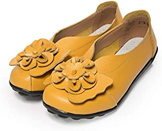 HAWEEL Carved Flower Fashion Casual Shallow Mouth Set Foot Shoes Peas Shoes for Woman