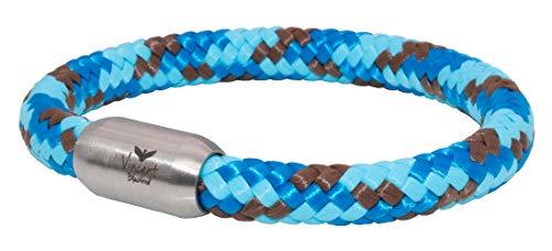 Vincent Blackbird Poseidon Segeltau Armband blau I türkis I braun - Handgemacht in Geschenkverpackung I dick & auffällig (22)