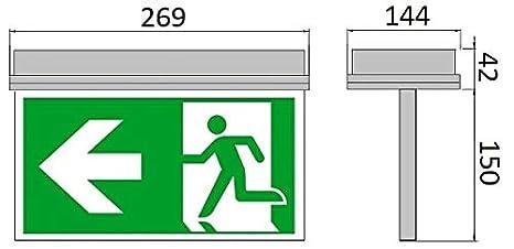 Notleuchte LED IP65 Decke Wand Notbeleuchtung Rettungszeichenleuchte Fluchtwegleuchte Notlicht Brandschutzzeichen Rettungszeichen Exit