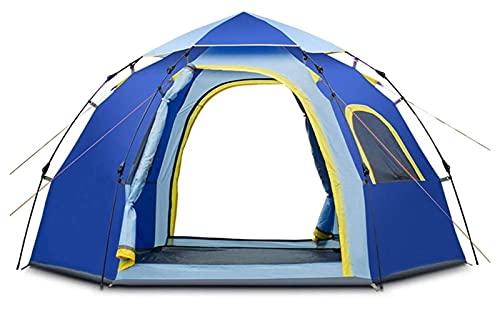 Ankon Tiendas de campaña para Acampar a Prueba de Agua Pop Up tiends, Camping instantáneo Hexangular Hidráulica Tienda Al Aire Libre Abrir Rápida 4-5 Personas Impermeable Familia Tienda