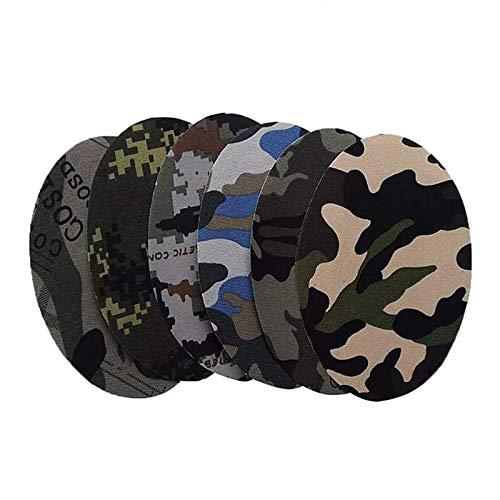 Shuny 12 Stück Patch Sticker, Patches zum Aufbügeln, Camouflage Oval Form Stoff Patches, für Reparatur Schnittmuster Ellenbogen Knie Eisen auf Applikationen