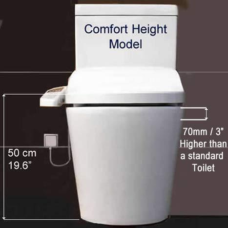 AQUA BAGNO Si/ège de WC ZERO blanc D-FORM universel facile /à nettoyer//facile /à utiliser amovible plastique thermodurcissable de haute qualit/é avec m/écanisme de fermeture en douceur