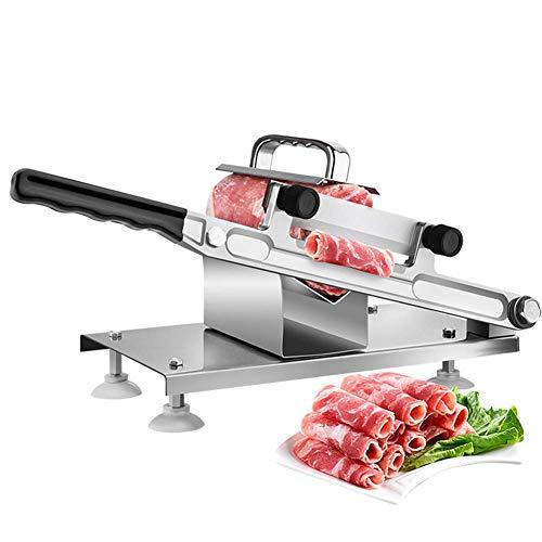 GzxLaY Manuelle Fleisch Lamm Slicer Home Manuelle Fleisch-Cutter Maschine Rinder Hammel Roll Gefrorenes Fleisch Grinder Hobelmaschinen, Aufschnittmaschine für Hausmannskost