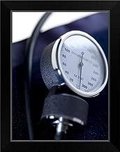 CANVAS ON DEMAND Blood Pressure Gauge Black Framed Art Print, 15