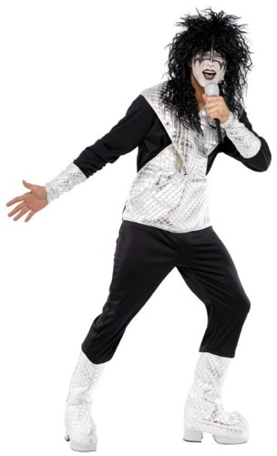 Smiffy's - Disfraz de rockero para hombre, talla L (UK 42-44) (33839l)