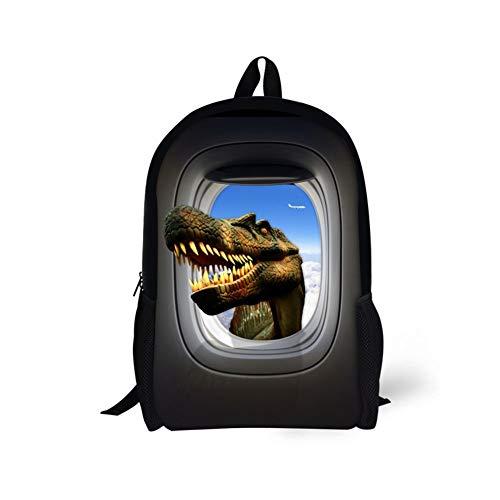 CODOYO Mochila, Mochila clássica Divertida com Estampado de dinossauro de Aire Mochila Escolar Ligera Mochila para la Escuela Elegante y Duradera