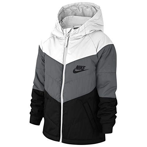 Nike Kinder Jacke Sportswear, White/smoke Grey/Black/Black, S, CU9157-103