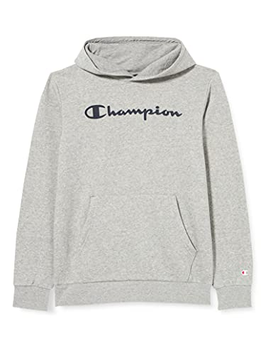 Champion Legacy Classic Logo Sweatshirt à Capuche Garçon -Gris Chiné Clair - 15-16 Ans (Fabricant: XXL)
