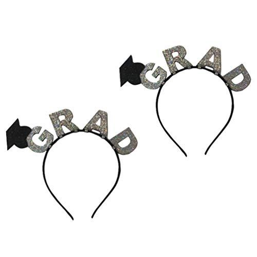 KESYOO 2 Stücke Doktorhut Stirnband Mini Doctoral Cap Haarband Abschlussfeier Hut Haarreif 2020 Graduation Party Kopfschmuck Bachelor Hut Haarspange Party Kostüm Zubehör
