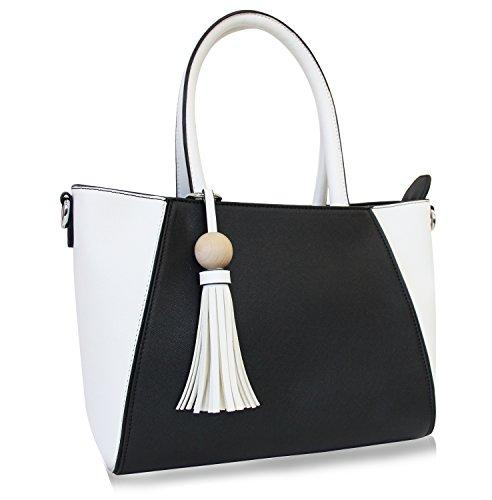 Vanessa & Melissa Damen Handtasche Elegante Henkeltasche Umhängetasche