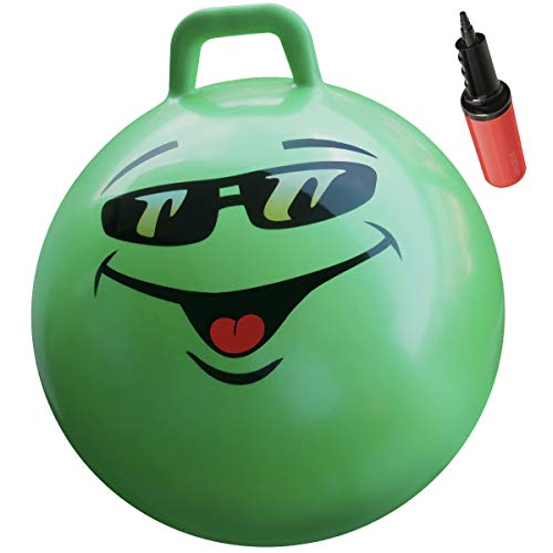 """WALIKI Hopper Ball for Kids   Hippity Hop Ball   Jumping Hopping Ball   Therapy Ball   Green (Ages: 10-15 (22""""/55CM))"""