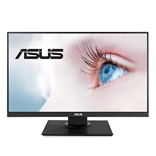 "ASUS VA24DQLB 23.8"" Monitor, 1080P Full HD, 75Hz, IPS, Adaptive-Sync, Eye Care, HDMI DisplayPort VGA USB Hub, Frameless, Ergonomic Design, VESA Wall Mountable, BLACK"