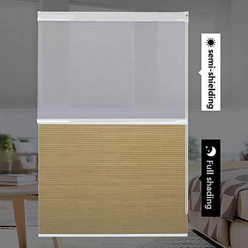 YUDEYU Instalación Perforada Persiana Enrollable Media Sombra Levantar Sombrilla Tela Impermeable Protección Solar (Color : Camel, Size : 120x210cm)