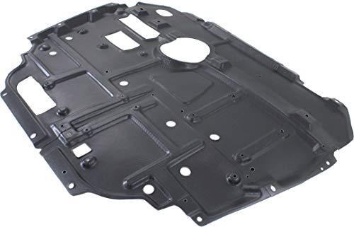 Evan-Fischer Aftermarket Engine Splash Shield Compatible with 2010-2015 Toyota Prius and 2012-2018 Prius V Center