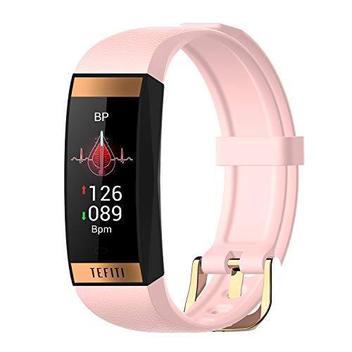 Zwbfu Pulsera Inteligente para Mujeres Frecuencia cardíaca Presión Arterial Monitoreo de en Sangre Sueño científico Modo multideportivo IP67 Impermeable FemeniFitness Smartwatches Compatible con