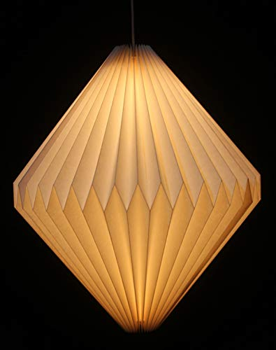 GURU SHOP Origami Design Papier Lampenschirm - Modell Ätna, 36x40x40 cm, Asiatische Deckenlampen aus Papier & Stoff