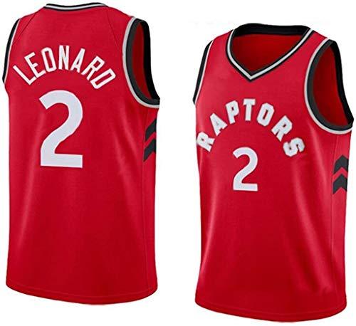 Jersey de Baloncesto de los Hombres # 2 Toronto Raptors Kawhi Leonard Malla pulsada por el Gimnasio de la Camisa de Sudor de Secado rápido (Size : X-Small)