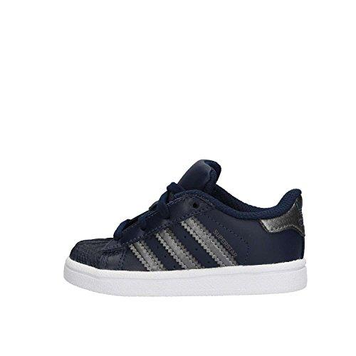 adidas Unisex Kinder Superstar I Sneaker, Blau (Maruni/Nocmét/Maruni), 27 EU