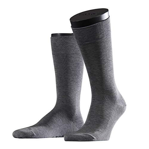 FALKE Functional Herren Socken Sensitive Malaga 3er Pack, Größe:39-42;Farbe:Light Grey Melange (3390)