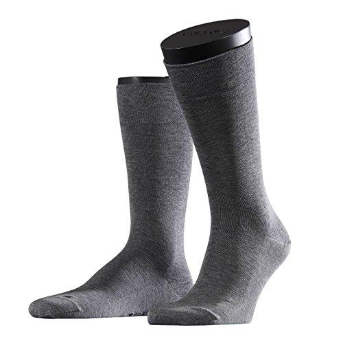 FALKE Functional Herren Socken Sensitive Malaga 2er Pack, Größe:43-46;Farbe:Light Grey Melange (3390)
