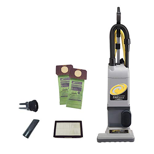 ProTeam ProForce 1200XP Bagged Upright Vacuum Cleaner with HEPA Media Filtration, Commercial Upright Vacuum with On-Board Tools, Corded