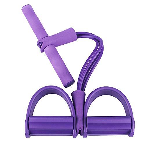 CXZC Pedal-Widerstandsband 2-Rohr, elastisches Sit-Up-Zugseil, für Fitness, Bodybuilding, Expander, Bauchtraining, Armstreckung, Schlankheitstraining