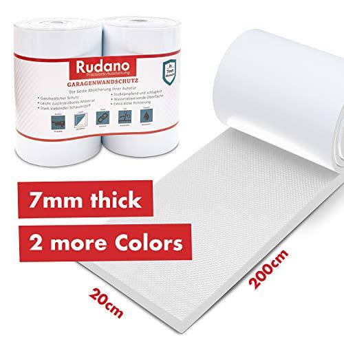 Rudano Wandschutz - Selbstklebender Schaumstoff als Garagen Wandschutz - Türschutz schützt ihr Auto vor Kratzern, Dellen und Schrammen - Rammschutz | Kantenschutz | Wandschutzfolie