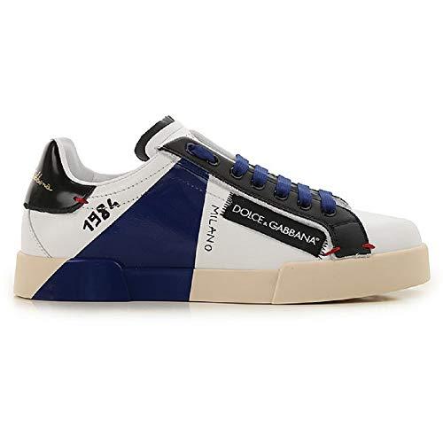 Dolce & Gabbana Sneaker Herren Portofino CS1613 AU451 89951, Weiß - Bianco - Größe: 39 EU