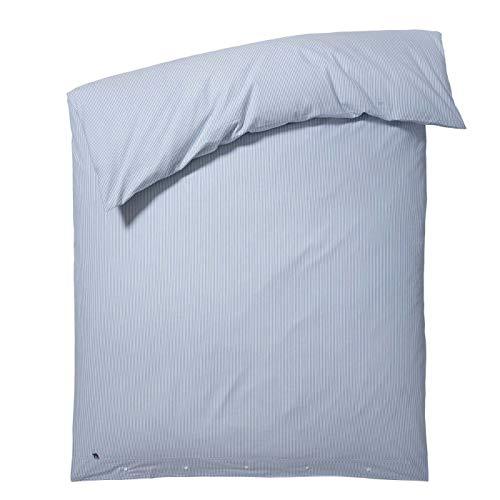 Lexington - Bettwäsche, Bettbezug - Blue Striped - Seersucker Duvet - Weiß Blau - 155 x 220 cm - 1 Stück