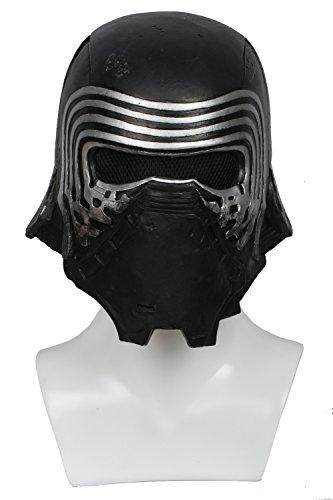 Kylo Mask Deluxe Black Series - Casco de látex para hombre, réplica de disfraz para adulto