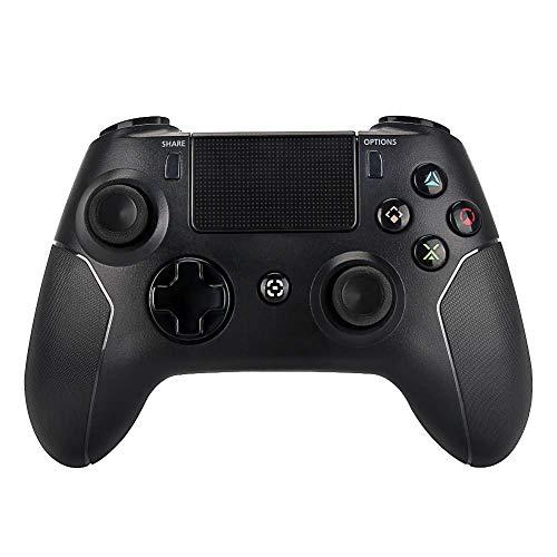 VAWA Controlador inalámbrico de Juegos: Cargador rápido Doble Bluetooth 4.0 con Carga USB, con Pantalla LED con Mango de 360 °, para Playstation 4 / PS4 Slim/PS 4 Pro/PC-Black
