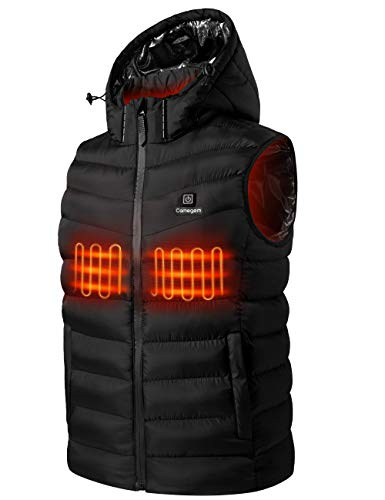 Heated Vest for Men and Women, 5V USB Charging Electric Heating Vest, Adjustable Heating Vest for Hunting, Camping, Hiking (Black, Large)