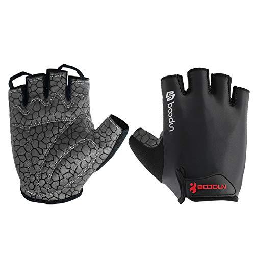 Neusky Fahrradhandschuhe für Männer & Frauen, Radsporthandschuhe Mountainbike Handschuhe Trainingshandschuhe für Dame und Herren, Ideal Fingerlos Handschuhe für Rennrad, MTB (Premium-Schwarz, M)