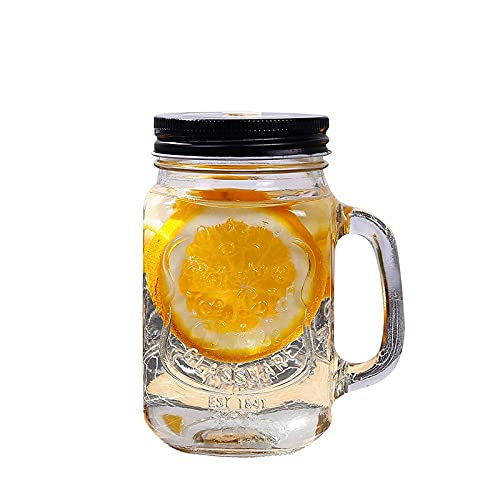 Taza de paja Tarro De Cristal Con Leche, Taza De Té, Clásico, Aislado, Hervidor De Agua, Tapa De Metal Con Una Pajita De Tamaño Pajita