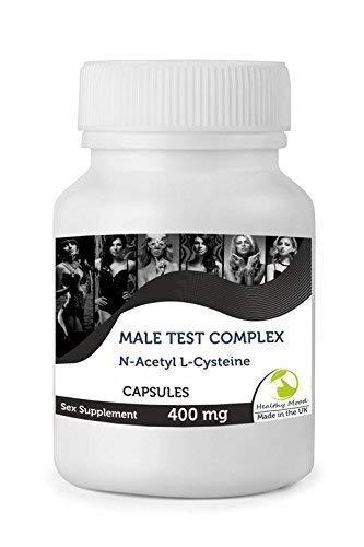 Hombre Testosterona N-Acetil L-CISTEÍNA Sexo X 90 Cápsulas Botella Heathy Estado de Ánimo