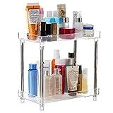 Blusea Organizador multifuncional de 2 niveles para cosméticos